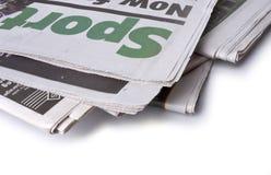Zeitung - die Sportseiten Stockfotos