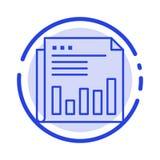Zeitung, Geschäft, finanziell, Markt, Nachrichten, Papier, Linie Ikone der Zeit-blauen punktierten Linie stock abbildung