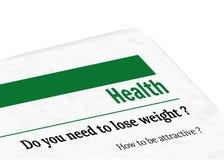 Zeitung - Gesundheit Lizenzfreies Stockfoto