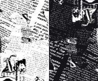 Zeitung grunge halb Stockbilder