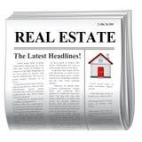 Zeitung - Haus lizenzfreie abbildung
