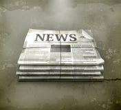Zeitung, im alten Stil Stockfotos