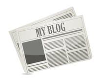 Zeitung mit meinem Blogtext Lizenzfreie Stockfotos