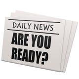Zeitung sind Sie vorbereiten Lizenzfreies Stockbild