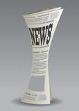 Zeitung stellte 2 ein Stockfotografie