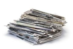 Zeitungen lizenzfreie stockfotografie
