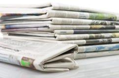 Zeitungen stockbilder
