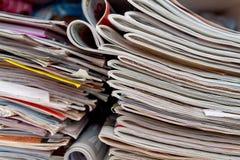 Zeitungen und Zeitschriften Stockfoto