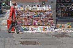 Zeitungen Wien Stockfoto