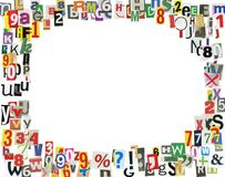 Zeitungs-ABC-Feld Lizenzfreies Stockfoto
