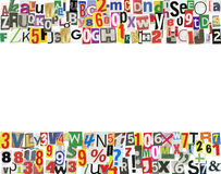 Zeitungs-ABC-Feld Lizenzfreies Stockbild