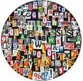 Zeitungs-ABC-Kreis Lizenzfreie Stockfotos