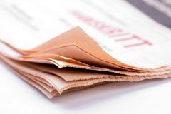 Zeitungs-Detail Lizenzfreie Stockfotos