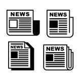 Zeitungs-Ikonen eingestellt Lizenzfreies Stockfoto