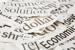 Zeitungs-Schlagzeilen lizenzfreies stockbild