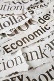 Zeitungs-Schlagzeilen stockbild