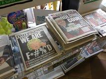 Zeitungs-Schlagzeilen, Oberstes Gericht Vereinigter Staaten, Rutherford, NJ, USA Lizenzfreie Stockfotos