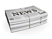 Zeitungs-Stapel stock abbildung