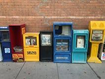 Zeitungs-und Zeitschriften-Zufuhren lizenzfreies stockbild