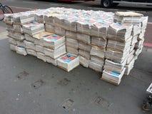 Zeitungsaustragen Lizenzfreies Stockbild
