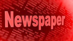 Zeitungshintergrund Stockfotos