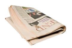 Zeitungshintergrund stockfoto