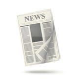 Zeitungsikone Lizenzfreie Stockfotos