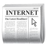 Zeitungsinternet Stockbilder