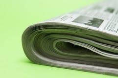 Zeitungsnahaufnahme Lizenzfreie Stockfotos