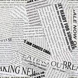 Zeitungspapier-Hintergrund Stockfotografie