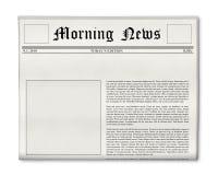 Zeitungsschlagzeile und Fotoschablone Lizenzfreies Stockfoto