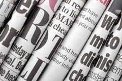 Zeitungsschlagzeilen Stockfotografie