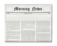 Zeitungsschlagzeilenschablone Stockbilder