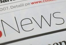 Zeitungsserie Lizenzfreies Stockbild