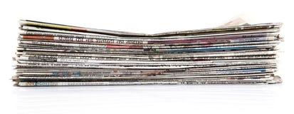Zeitungsstapel Lizenzfreies Stockfoto