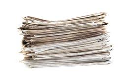 Zeitungsstapel Stockbild