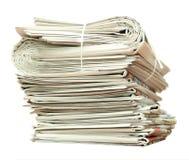 Zeitungsstapel lizenzfreie stockbilder