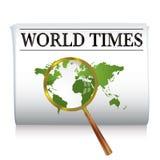 Zeitungswelt stock abbildung