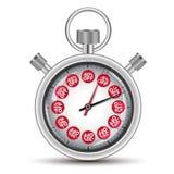 Zeitverkaufs-Konzeptstoppuhr Lizenzfreie Stockfotografie