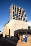 Zeitz Mocaa contempory art building. Cape Town, South Africa, 12th April - 2019: Exterior of contemporary art building. The building was converted out of old royalty free stock photo