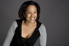 Zekere Afrikaanse Amerikaanse Vrouw Royalty-vrije Stock Fotografie