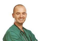 Zekere artsen positieve uitdrukking Stock Foto's