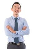 Zekere Aziatische bedrijfsmens Stock Foto
