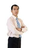 Zekere Aziatische zakenman royalty-vrije stock foto's
