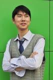Zekere Aziatische zakenman Stock Afbeelding