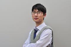 Zekere Chinese zakenman Royalty-vrije Stock Fotografie