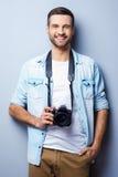 Zekere fotograaf royalty-vrije stock foto