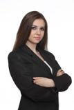 Zekere jonge bedrijfsvrouw Royalty-vrije Stock Foto