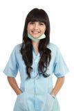 Zekere jonge medische verpleegster stock foto