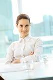 Zekere werkgever Stock Foto's